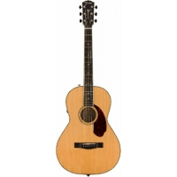 Fender PM2E Deluxe Parlour Guitar, Natural